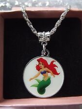 LITTLE MERMAID  PRINCESS   ARIEL  NECKLACE STRONG TWIST  GIFT BOX,BIRTHDAY GIFT