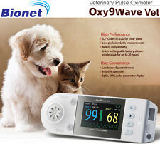 "NEW ! Bionet Oxy9Wave Vet Veterinary Pulse Oximeter 3.2"" LCD Color Display"