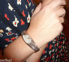 14 k white gold heart pave diamonds silver bangle with opening $2960