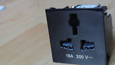 Mk SX2837BLK me euro interrupteur international socket module 50x50mm noir 16A