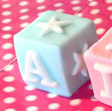 LARGE EDIBLE TOY ABC BLOCKS Christening Baby shower cake topper BUY 2 GET 1 FREE