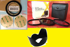 RING ADAPTER+FILTER KIT CPL+LENS HOOD 58mm for FUJI S9400W S9450W S9200 S9250 58