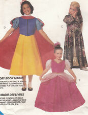 Childrens Snow White Dorothy Bell Costumes McCalls Sewing Pattern 6810 Uncut