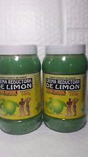 2 JARS OF LEMON BODY WRAP CREAM 18 OZ EA CREMA REDUCTORA DE LIMON 500 GR