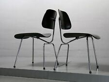 Paire (2x) Dining chair, DCM, Charles Eames pour Herman Miller vitra, vollmetall