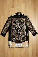 Balmain h&m noir & or velours de soie empierré chemisier top-UK8 US4 EU34-neuf