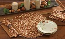 PLACEMAT QUILTED ROUND AUBREY TERRACOTTA REVERSIBLE PARK DESIGNS