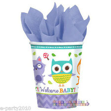 BABY SHOWER Woodland Welcome 9oz PAPER CUPS (8) ~ Party Supplies Beverage Drink