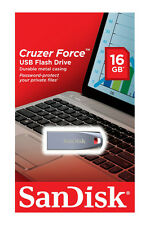 SanDisk 16GB Cruzer FORCE USB 2.0 Flash Pen Thumb Drive SDCZ71-016G-B35 16 G B