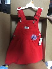 OSH KOSH B'GOSH 3T RED CORDUROY JUMPER DRESS Lined Tulle Holiday SALE! WOW