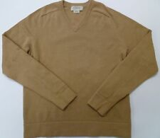 J Crew Light Brown Mens V-Neck Sweater sz Small S