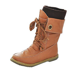 Foldable Military Combat Mid Calf Women's Snow Boots Lace Up Comfort Ankle Shoes