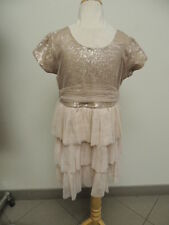 Le Pink Size 12 Sequin Ruffle Style Girls Designer Boutique Party Dress NWT