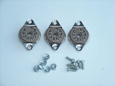 BELTON 9 pin 12AX7, EL84 tube sockets, BOTTOM mount, with hardware, 3 pcs