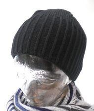 Bonnet pour hommes à pompon tricoté noir hommes, femmes