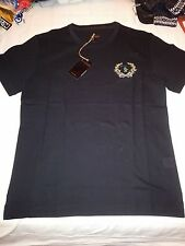 BILLIONAIRE ITALIAN COUTURE T-SHIRT BLACK NERO Sz M B.I.C. EMBROIDERED LOGO