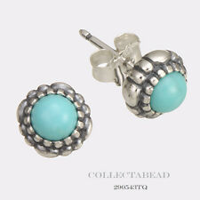 Authentic Pandora Silver December Turquoise Birthstone Stud Earrings 290543TQ