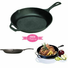 Cast Iron Skillet Pre Seasoned Fry Pan 10-inch Lodge  NEW FREE SHIPPING