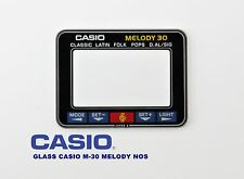 VINTAGE GLASS CASIO M-30 MELODY NOS