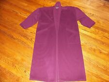 EILEEN FISHER Vintage Purple Plum Side Pocket Wool Long Coat - 1x 2x