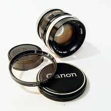 Vintage CANON FL 50mm 1:1.4 Manual Lens w/ Cap & Filter
