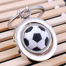 Sports Rotating Football Soccer Keychain Keyring Key Chain Ring Key Fob Ball
