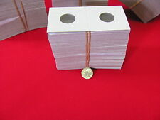 """100- DIME Size- 2X2 """"GUARD HOUSE"""" -Cardboard/Mylar Coin Holders- Free S/H!"""