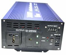 2000W (4000 W Peak) POWER INVERTER SOFT START 2000 Watt 24V LED Meter SPARK