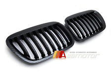 FRONT HOOD GRILLES CARBON LOOK for 00-03 BMW X5 E53 Pre-LCI SUV 3.0i 4.4i 4.6is