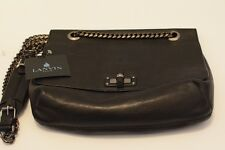 BNWT Lanvin 'Happy' Soft  Black Calfskin Leather Shoulder Bag RRP £1280
