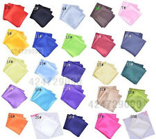 Wholesale Lots Mens 25pcs Handkerchiefs Pocket Squares Solid Wedding Napkin Ties