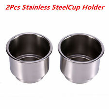 2 x Stainless Steel Cup Drink Bottle Holder for Marine Boat RV Camper Universal