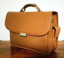 HARTMANN Special Edition Tan Leather Briefcase, Messenger, Computer Bag FREE SH