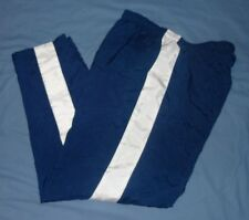 NIKE Navy Blue Poly/Cotton Lined Sport Athletic Track Basketball Pants MED