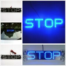 12V Blue STOP Logo Car LED Windshield Rear Tail Brake Warning Light For Hyundai