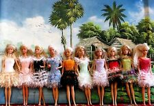 10 ROBES BARBIE HAWAI UNIQUES FAITES MAIN CADEAU NOEL BARBIE  Creation  France