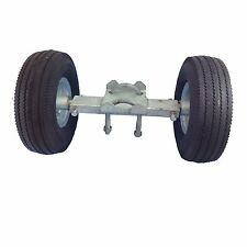 """8"""" ROLLING GATE CARRIER WHEELS: for Chain Link Fence Rolling Gates - Rut Runner"""