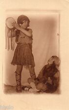 BJ229 Carte Photo vintage card RPPC Enfant déguisement costume danse fille