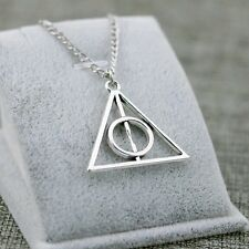 COLLANA CIONDOLO TRIANGOLO HARRY POTTER DEATHLY HALLOWS  E I DONI DELLA MORTE