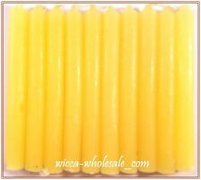 """10 YELLOW MINI 4"""" CANDLE MAGICK CANDLES (Spell Altar Chime Wicca Pagan Ritual)"""