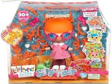 New Lalaloopsy Littles Silly Hair Doll Specs Reads a lot Over 30 Pieces & Case