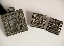 ENNIS-BROWN HOUSE Frank Lloyd Wright Necklace Earrings Mid Century Modern MOMA