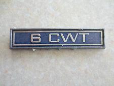 Vintage 1960s Ford Cortina Mark 1 van 6 cwt badge