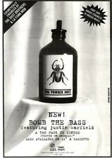 "NEWSPAPER CLIPPING/ADVERT 24/9/94PGN40 10X7"" BOMB THE BASS : BUG POWDER DUST"