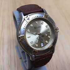 Vintage Bulova 90B50 Marine Star Men Swiss Analog Quartz Watch Hours~New Battery