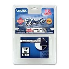 "Brother TZE211 1/4"" Black/White P-Touch Label TZ-211 PTouch Label Tape"