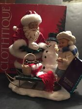DEPT 56 POSSIBLE DREAMS CLOTHTIQUE CHRISTMAS SANTA SNOWBALL BUDDIES SNOWMAN