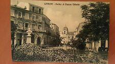 COTRONE - CATANZARO - PORTICI DI PIAZZA VITTORIA - NON VIAGGIATA 1911