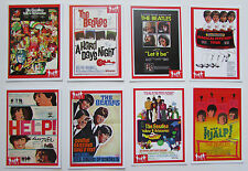 Set of 8 BEATLES RARITIES trade cards - RED 'Movie Posters' series - superb gift
