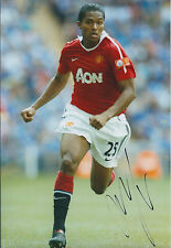 Antonio VALENCIA Signed Autograph Photo AFTAL COA Manchester United Man Utd RARE